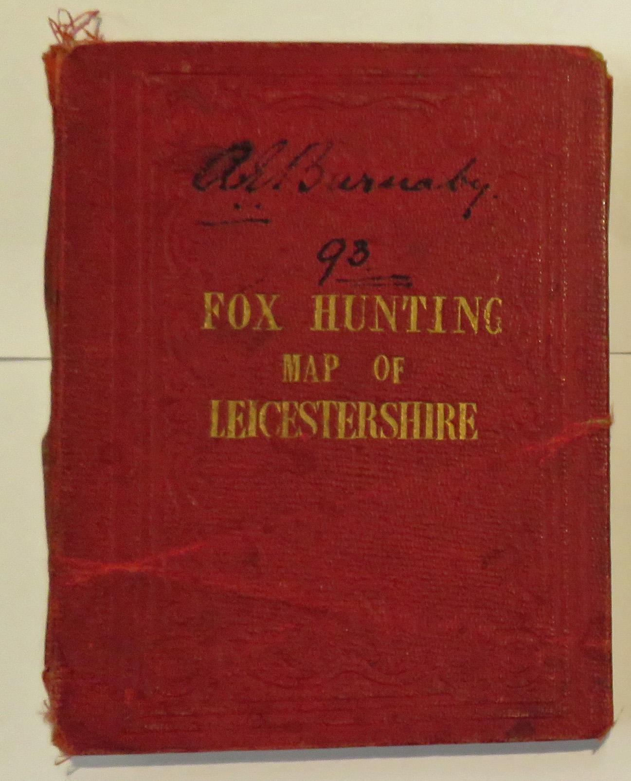 Fox Hunting Map Of Leicestershire