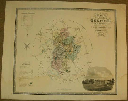 Map of the County of Bedford, from an Actual Survey Made in the Year 1825
