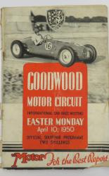Goodwood Motor Circuit International Car Race Meeting Easter Monday April 10, 1950