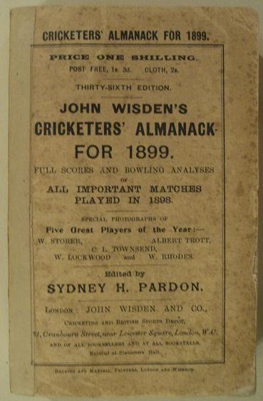 John Wisden's Cricketers' Almanack for 1899