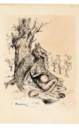 The Gryphon of Alice in Wonderland Original Arthur Rackham