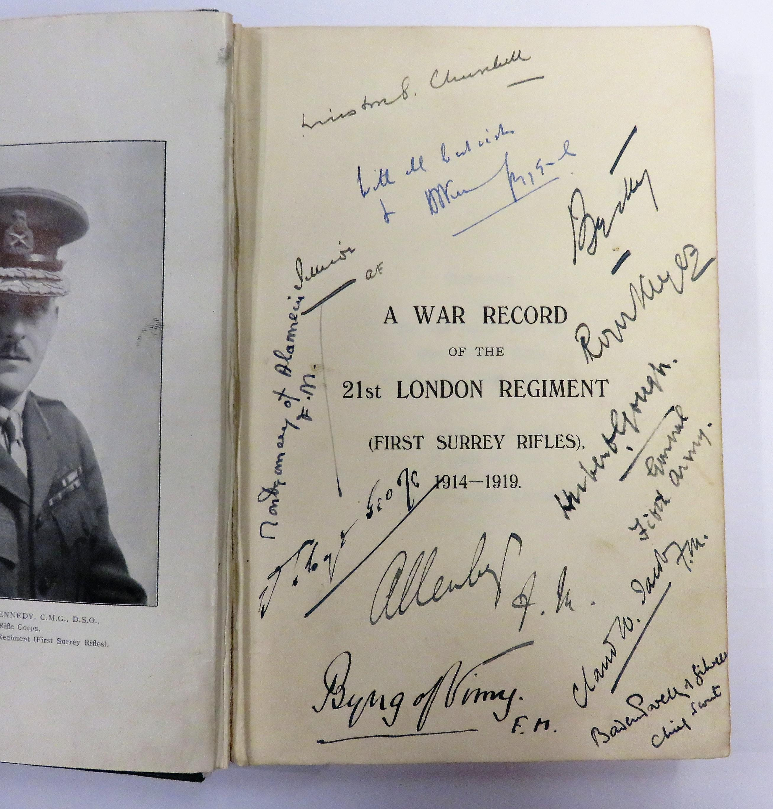 **A War Record of the 21st London Regiment Surrey (First Surrey Rifles) 1914-1919