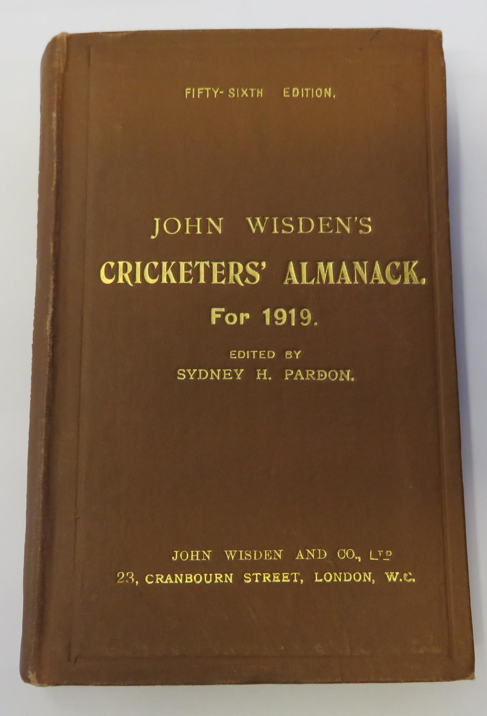 John Wisden's Cricketers' Almanack for 1919