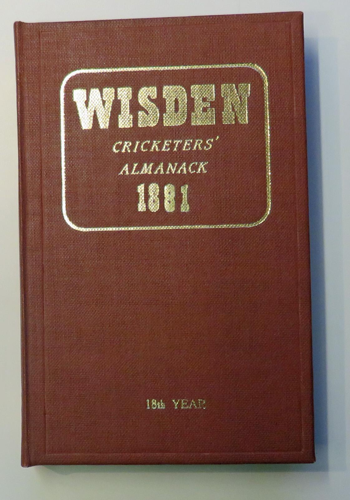 John Wisden's Cricketers' Almanack For 1881