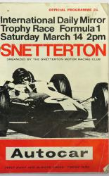 International Daily Mirror Trophy Race Formula 1 Saturday March 14, 2pm 1964 Snetterton