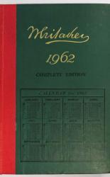 Whitaker's Almanack For 1962