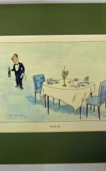 H.M. Bateman Print Hock