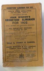 **John Wisden's Cricketers' Almanck For 1922