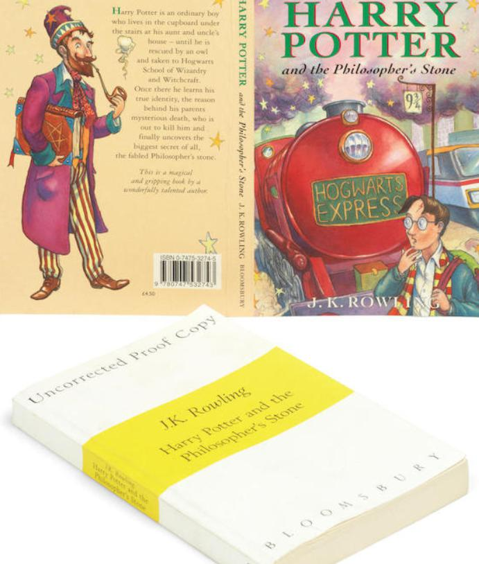 **Harry Potter and the Philosopher's Stone Uncorrected Proof Copy of 200 Copies, With Original jacket Artwork