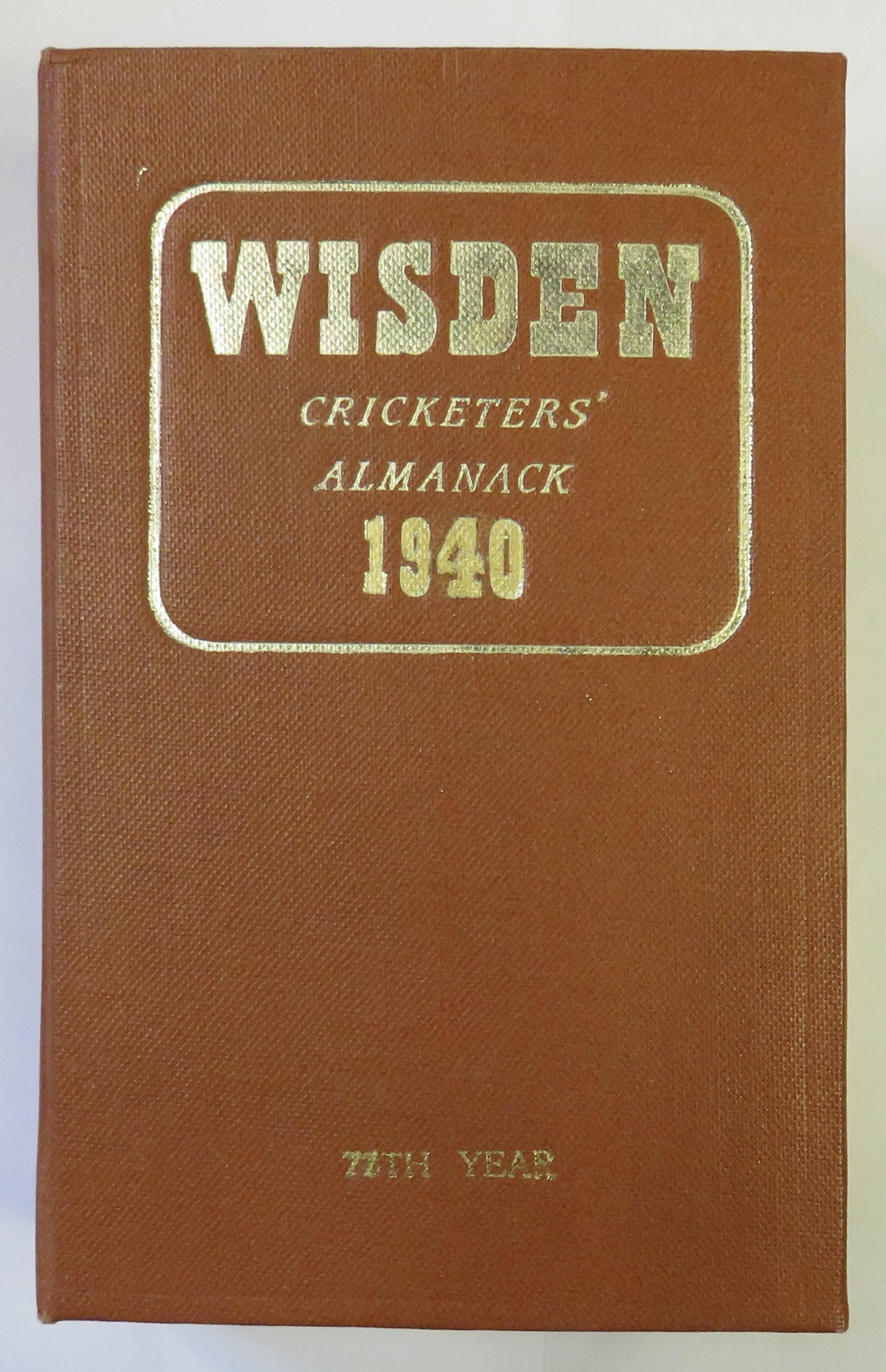 John Wisden's Cricketers' Almanack for 1940