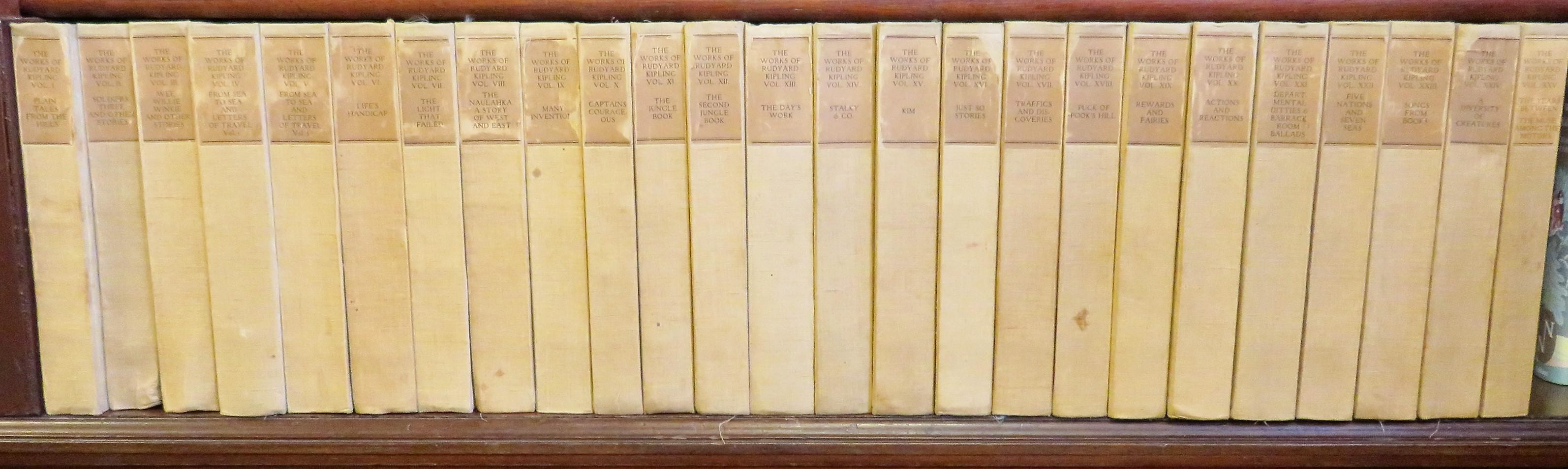 The Bombay Edition of the Works of Rudyard Kipling SIGNED In 25 Volumes Complete
