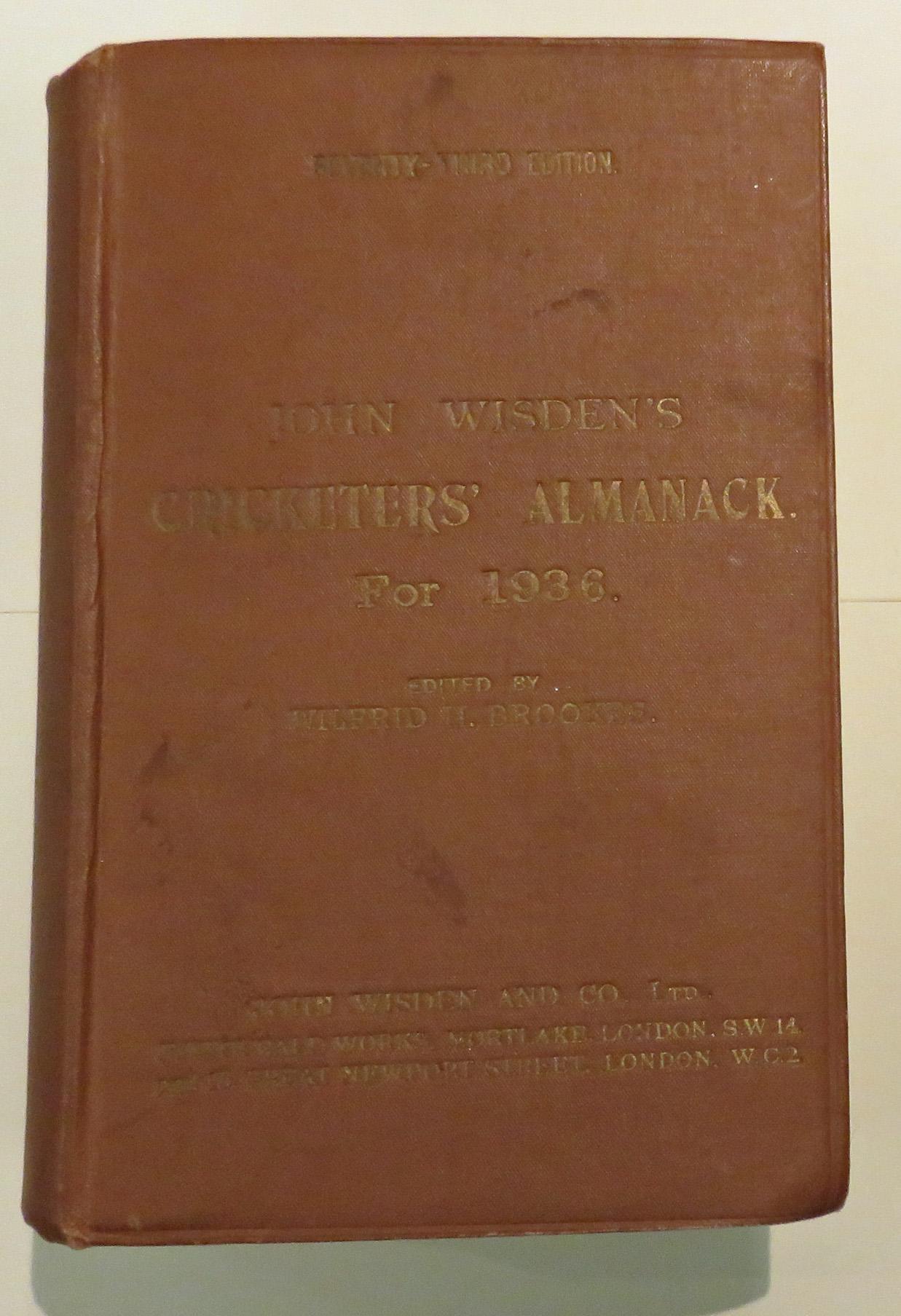 **John Wisden's Cricketers' Almanack For 1936**