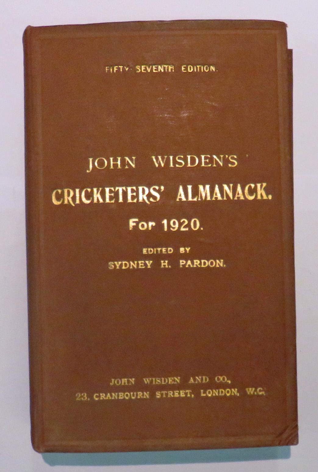 **John Wisden's Cricketers' Almanack For 1920**