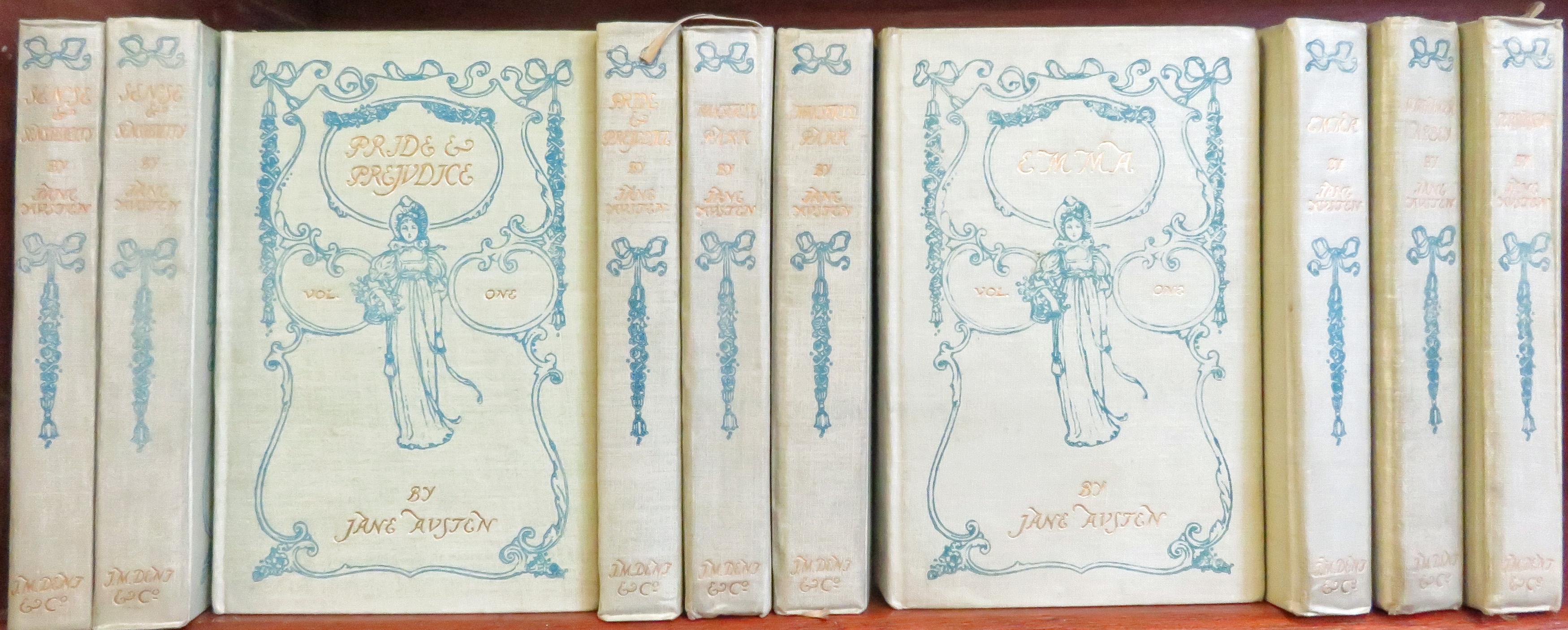 Jane Austen's Novels Edited by Reginald Brimley Johnson in ten volumes