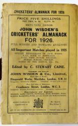 John Wisden's Cricketers' Almanack For 1926