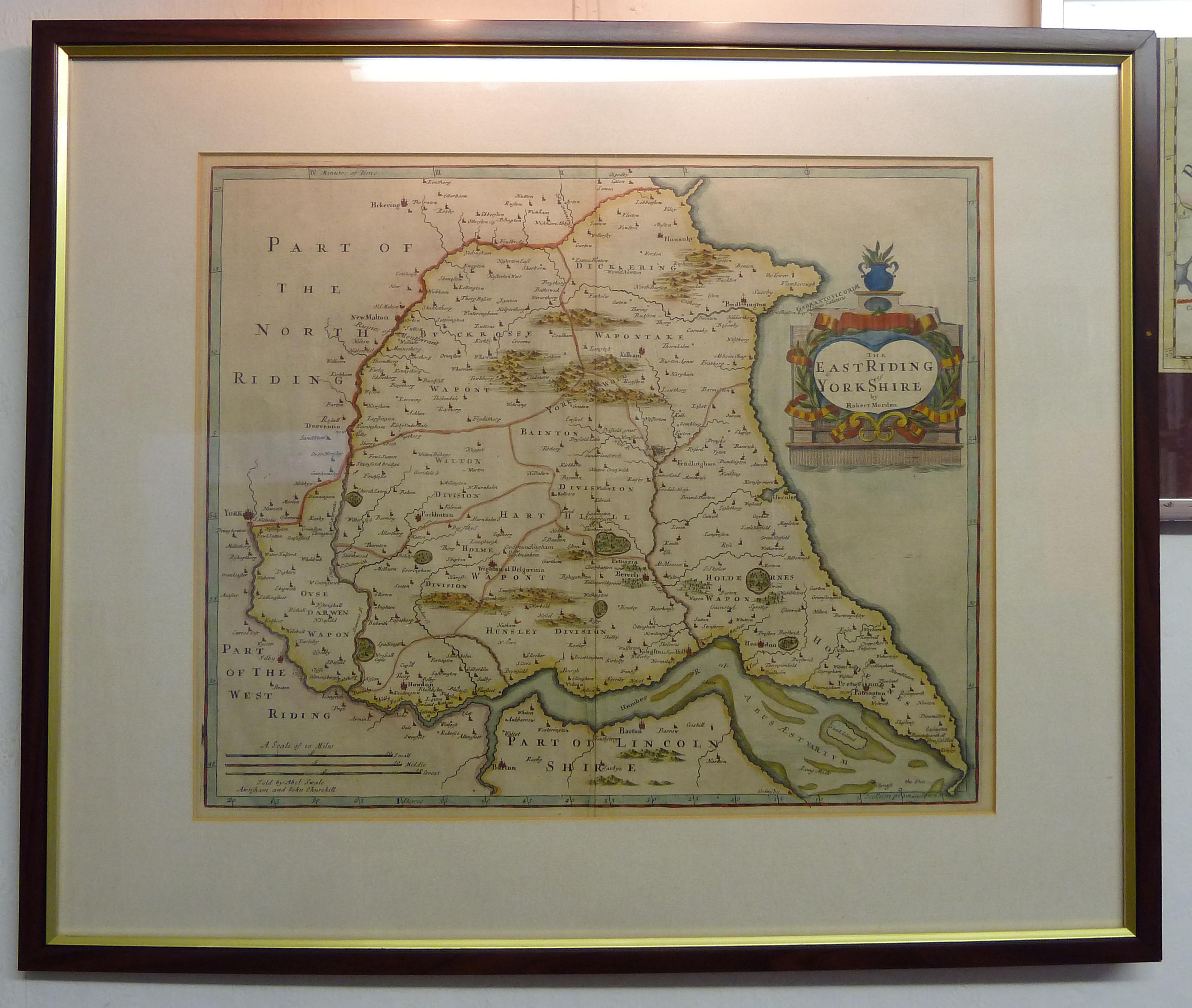 Robert Morden Map of East Riding Yorkshire
