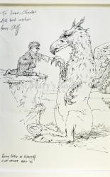 Harry Potter & Hippogriff. Original Sketch by Cliff Wright