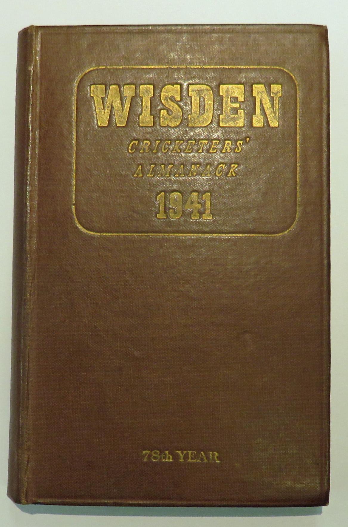 **Wisden's Cricketers' Almanack For 1941**