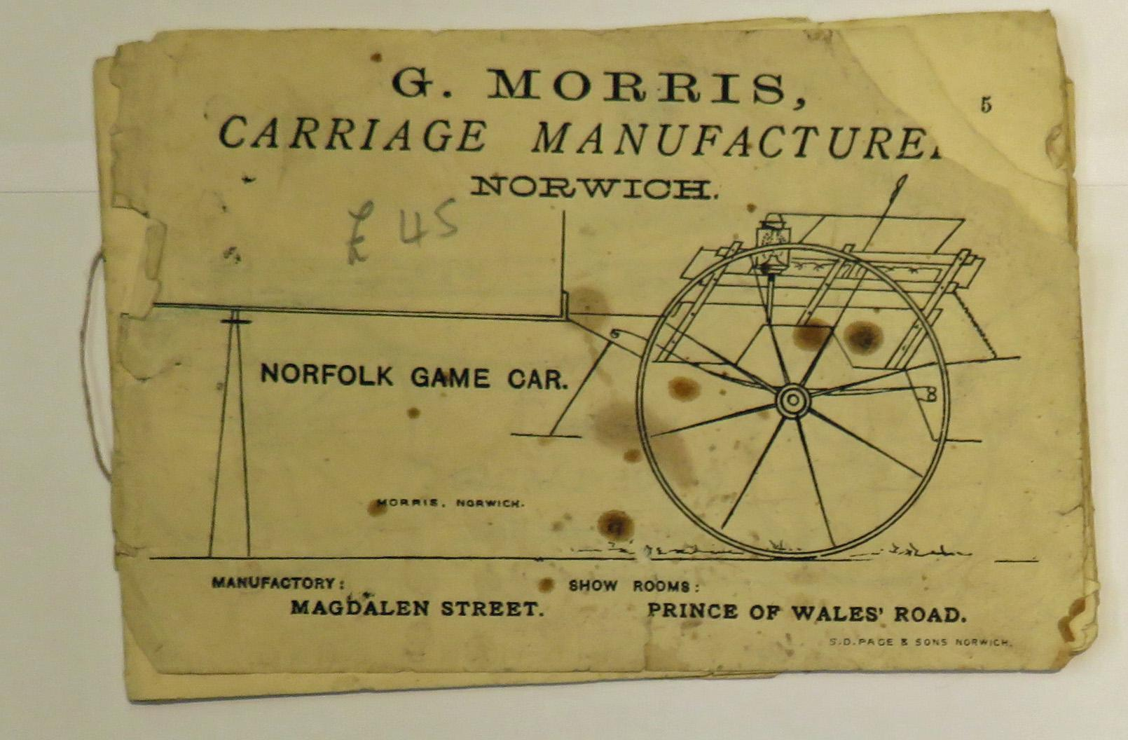 G. Morris Carriage Manufacturer