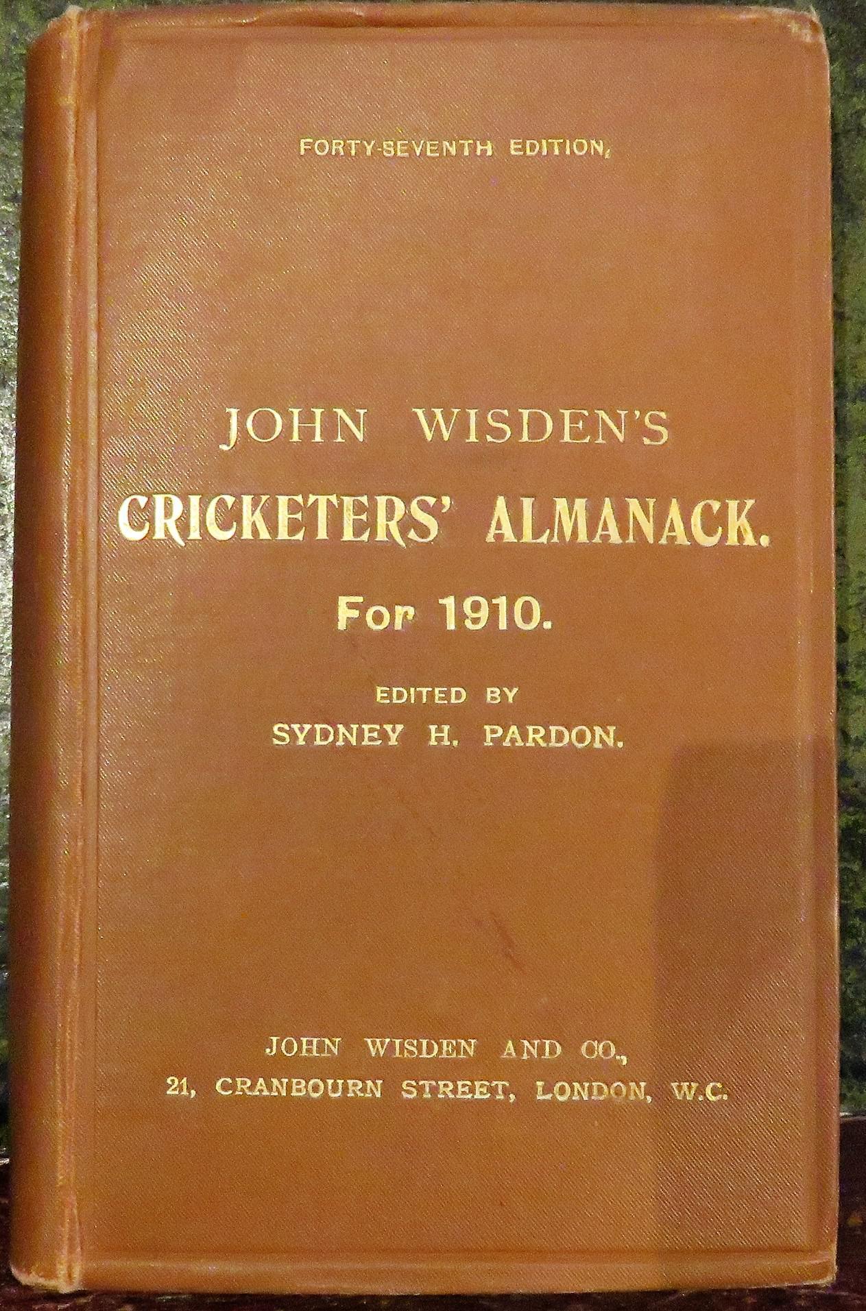 **John Wisden's Cricketers' Almanack For 1910**