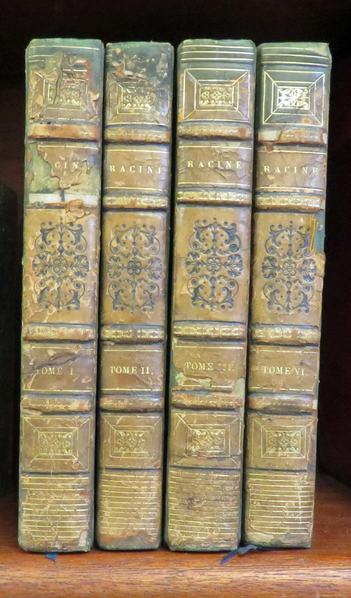 Oeuvres Completes De J Racine Volumes 1-3 and 6