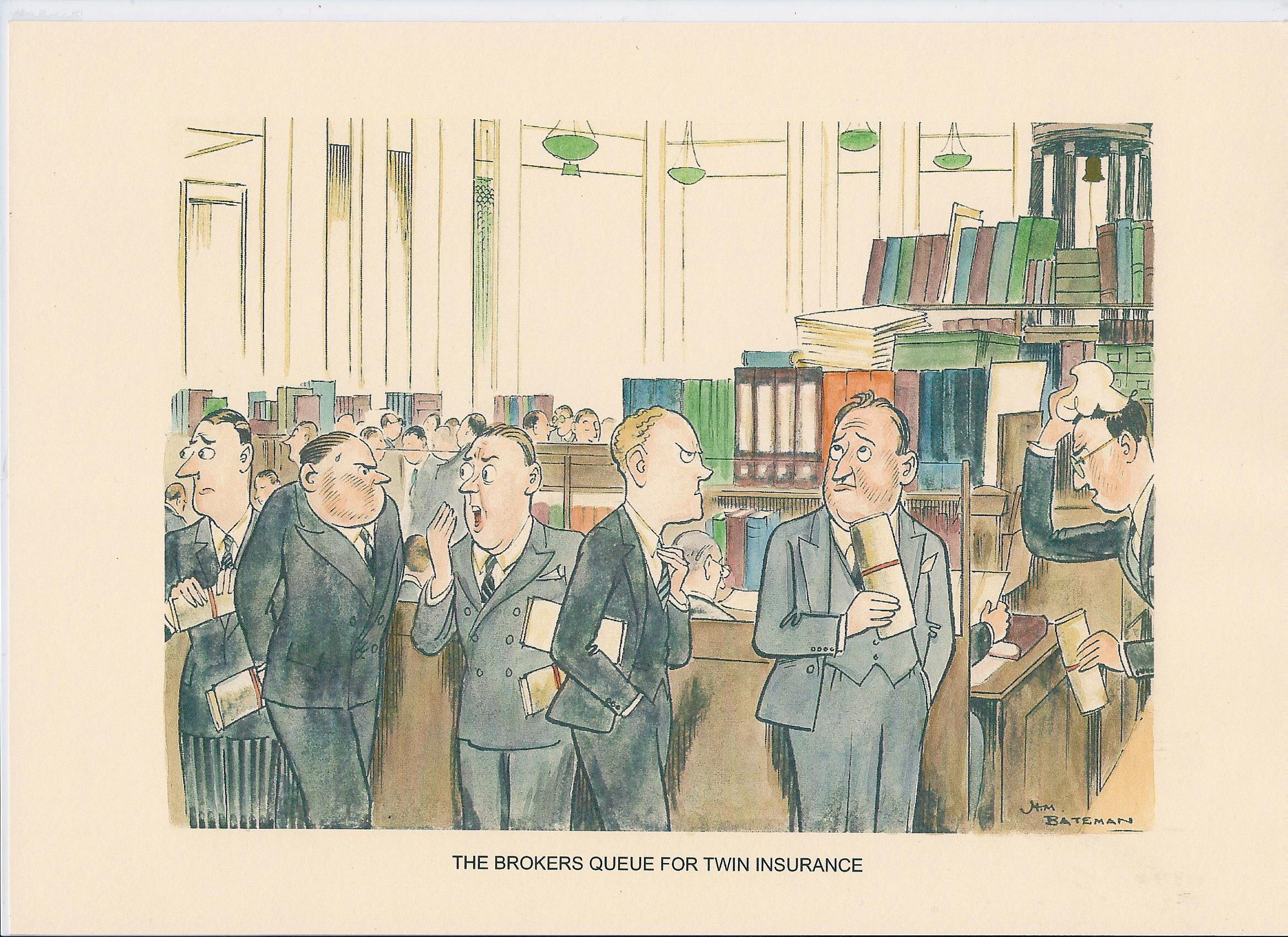 The Brokers Queue For Twin Insurance