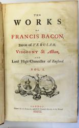 The Works of Sir Francis Bacon