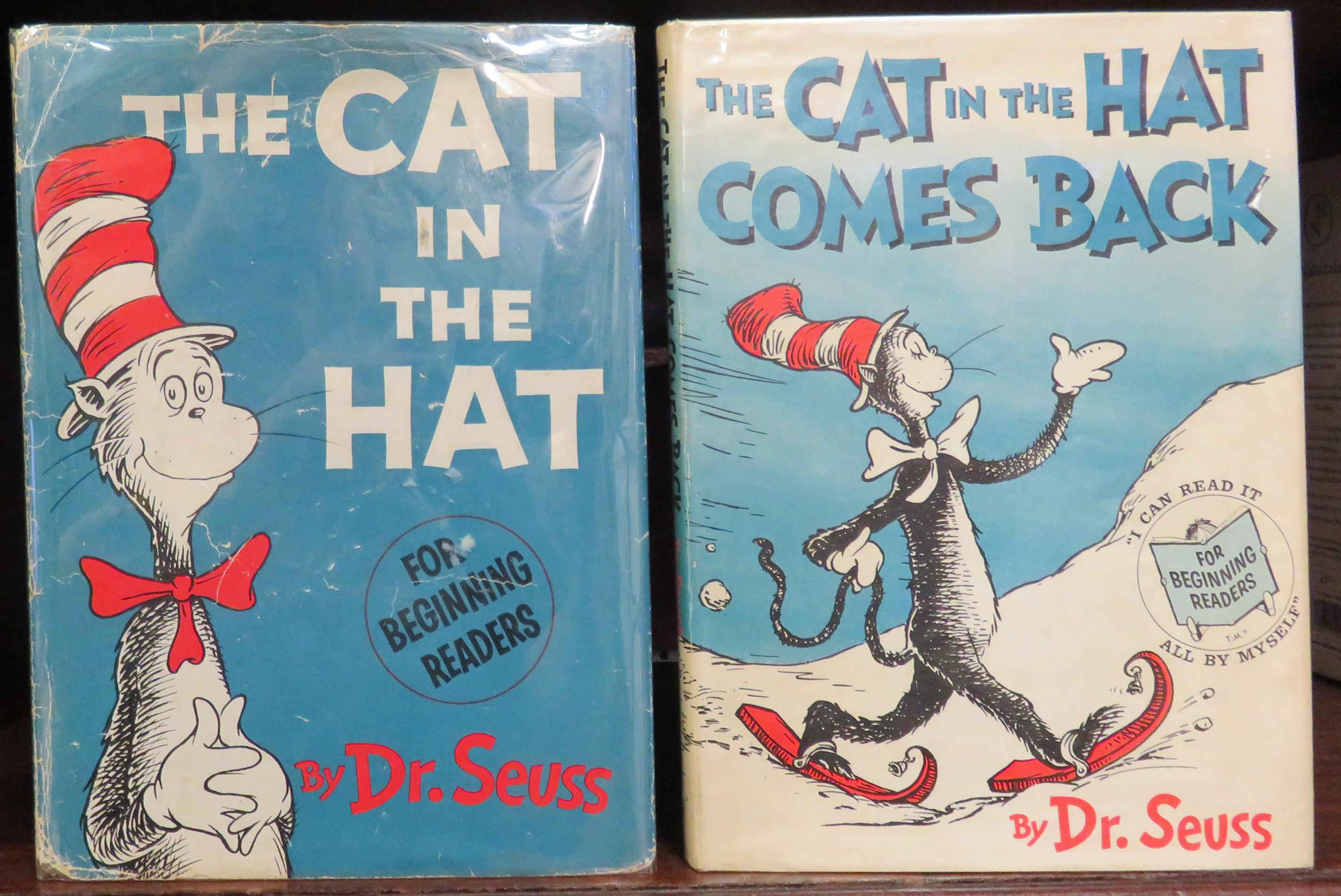 The Cat in the Hat Signed By Dr Seuss with The Cat In The Hat Comes Back