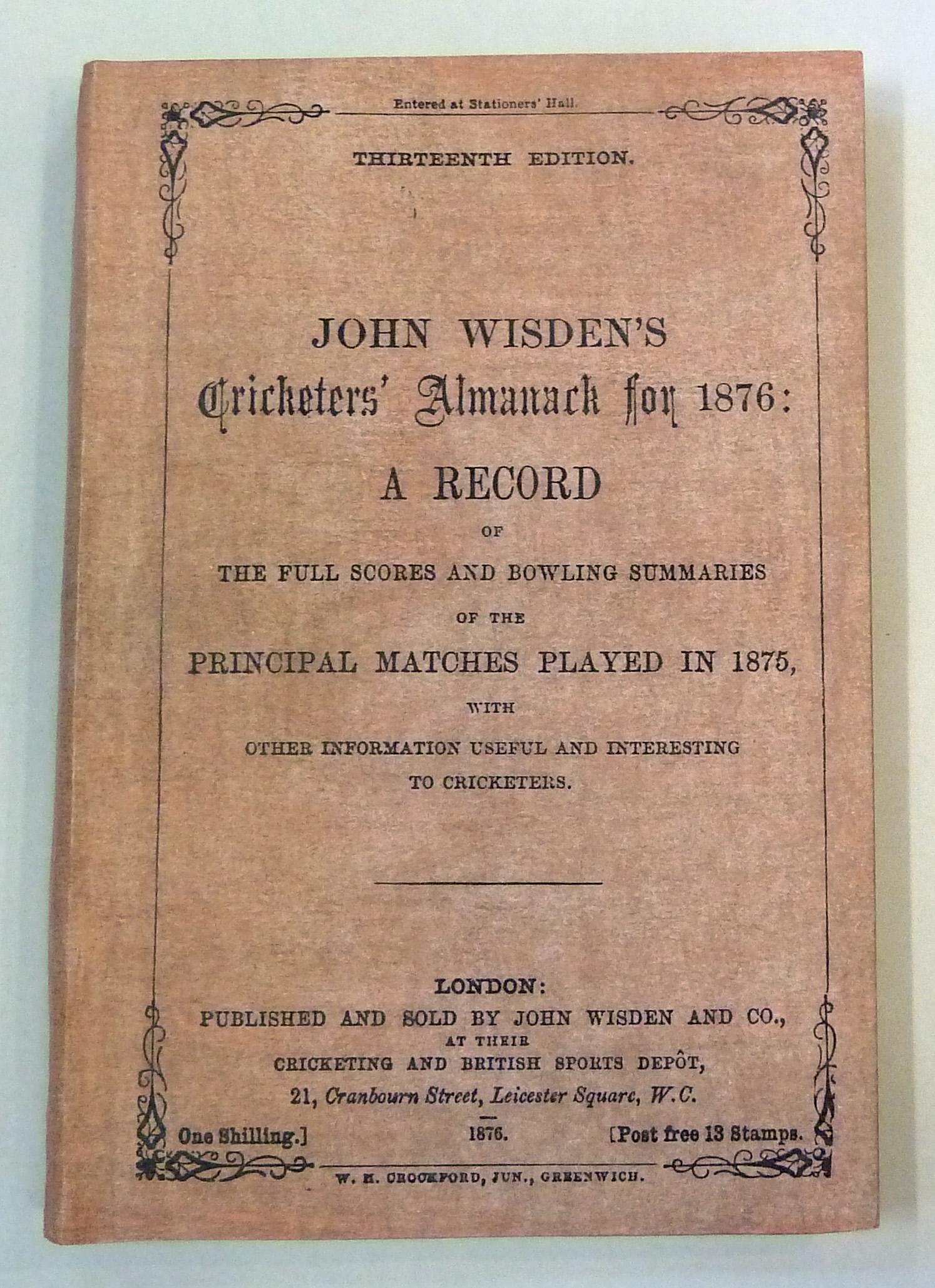 John Wisden's Cricketers' Almanack for 1876