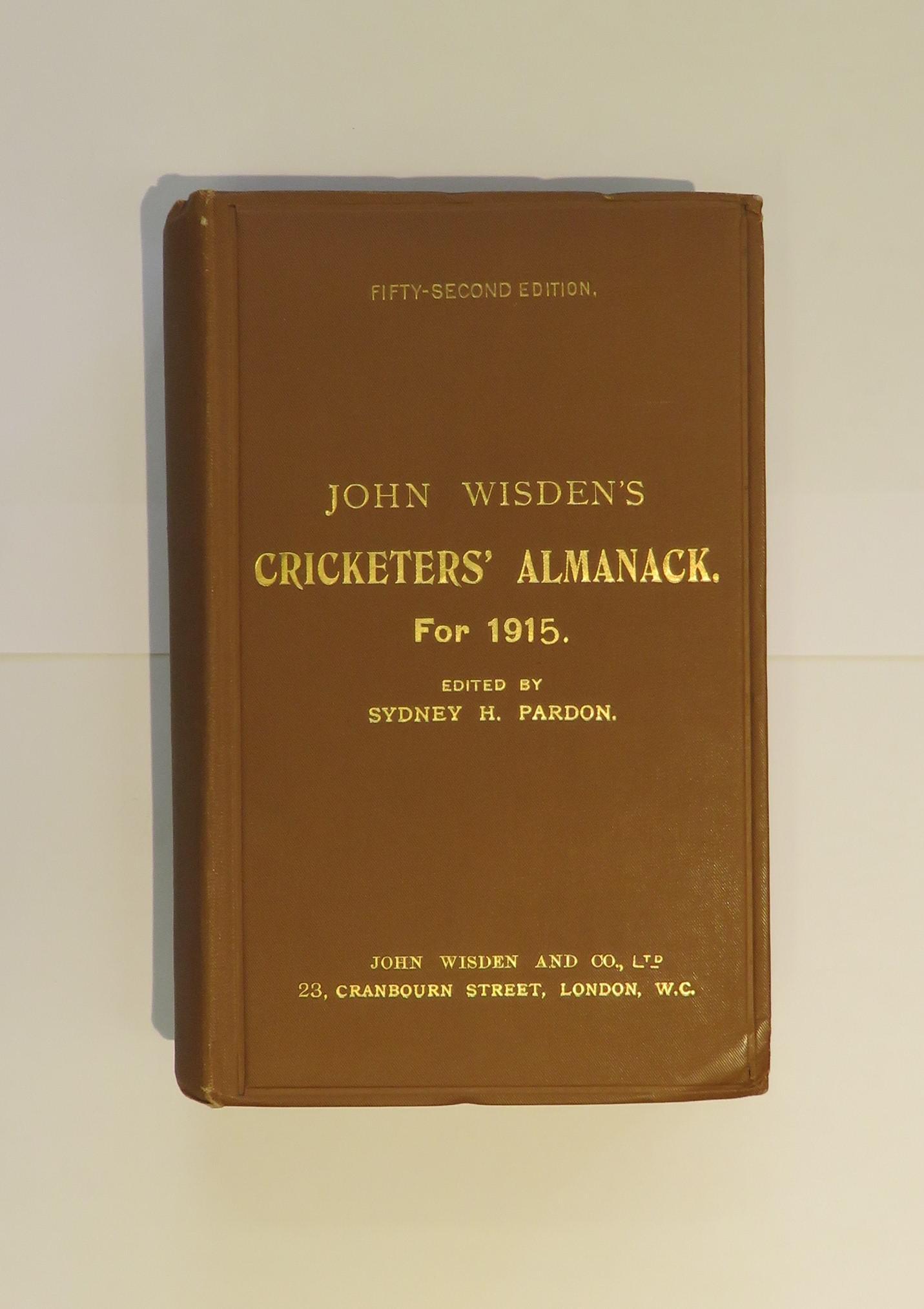 John Wisden Cricketers' Almanack for 1915