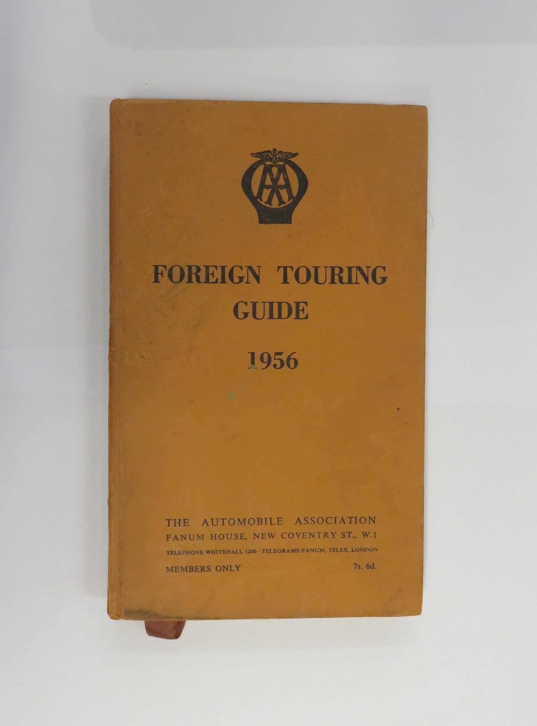 AA Foreign Touring Guide 1956