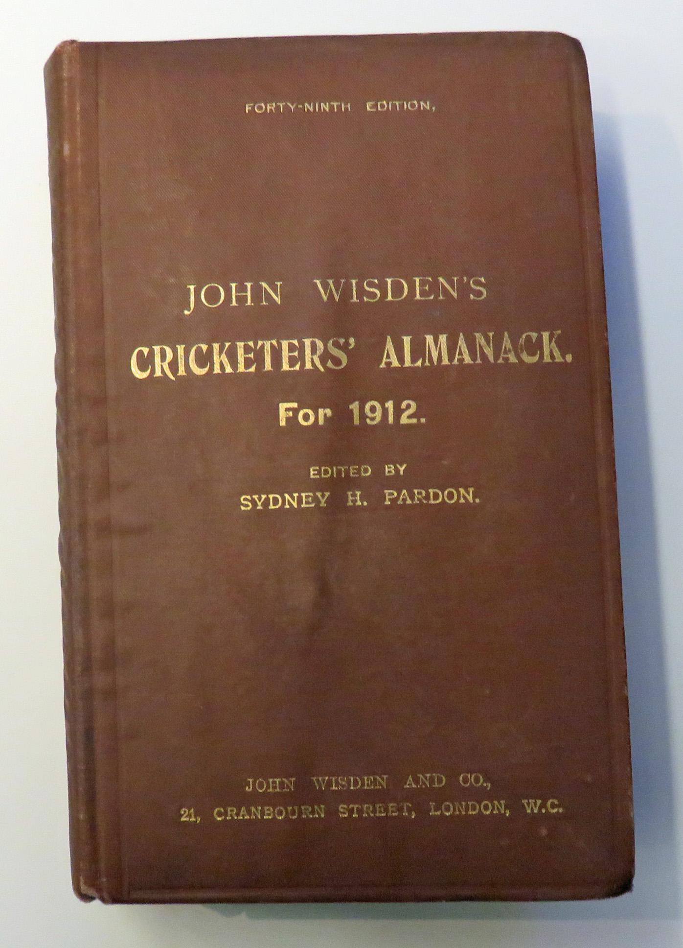 **John Wisden's Cricketers' Almanack For 1912