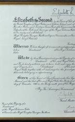 RVO Signed by Queen Elizabeth
