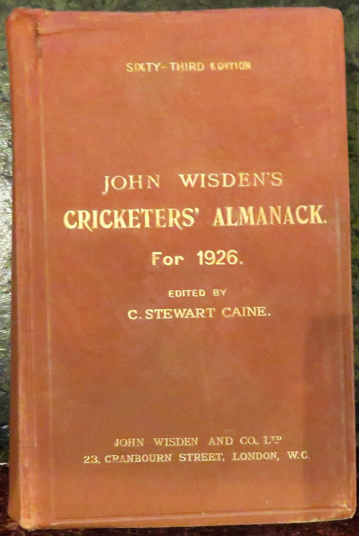**John Wisden's Cricketers' Almanack For 1926**