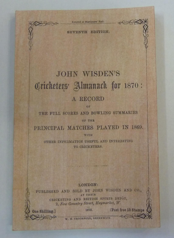 John Wisden's Cricketers' Almanack for 1870