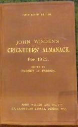 **John Wisden's Cricketers' Almanack For 1922**