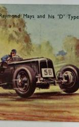 Postcard of Raymond Mays and his D Type E.R.A.