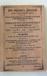 **Wisden The Cricketer's Almanack for the Year 1866