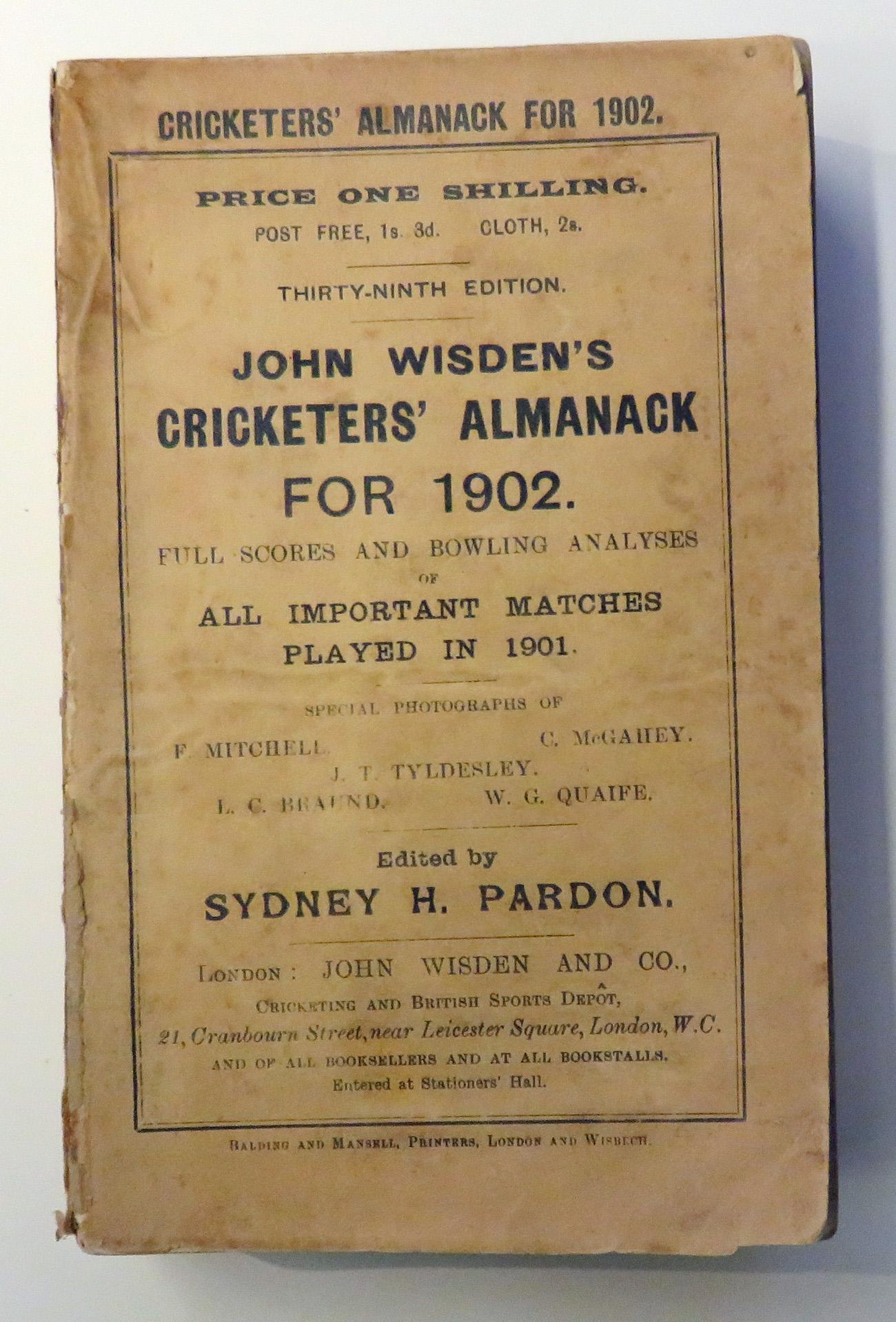 **John Wisden's Cricketers' Almanack For 1902