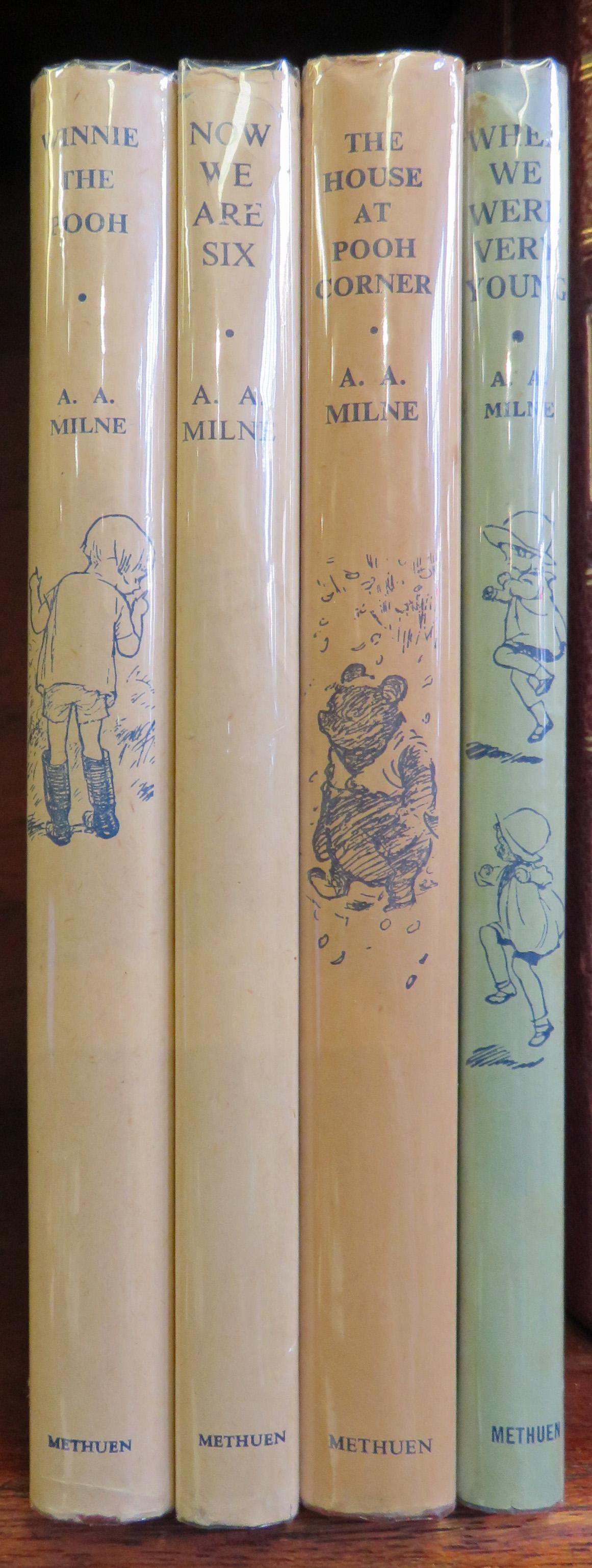 Early Set of A. A. Milnes Signed by Illustrator Ernest Shepard