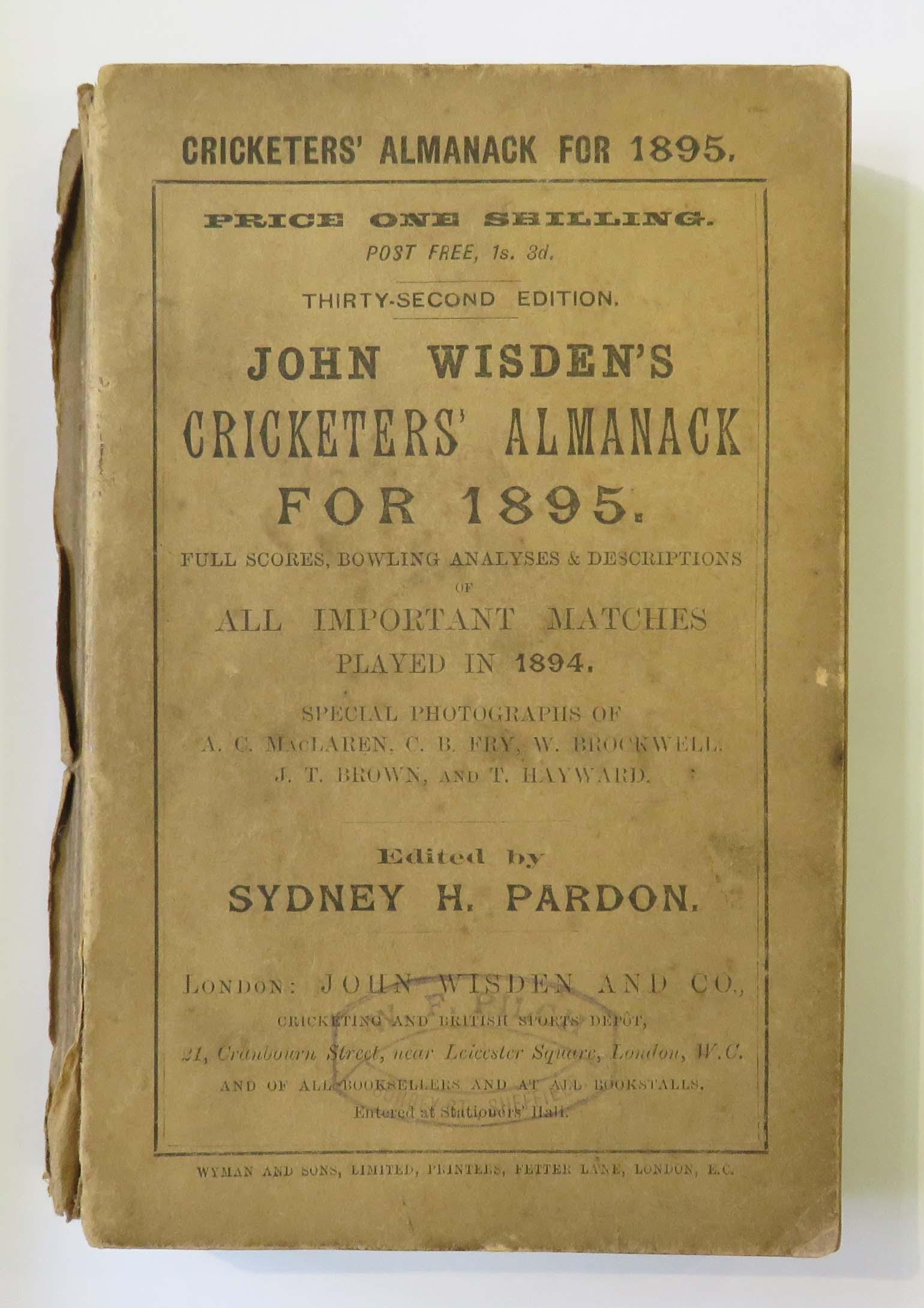 John Wisden's Cricketers' Almanack for 1895