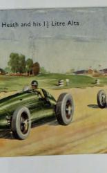Colour Postcard of John B. Heath and his 1.5 Litre Alta