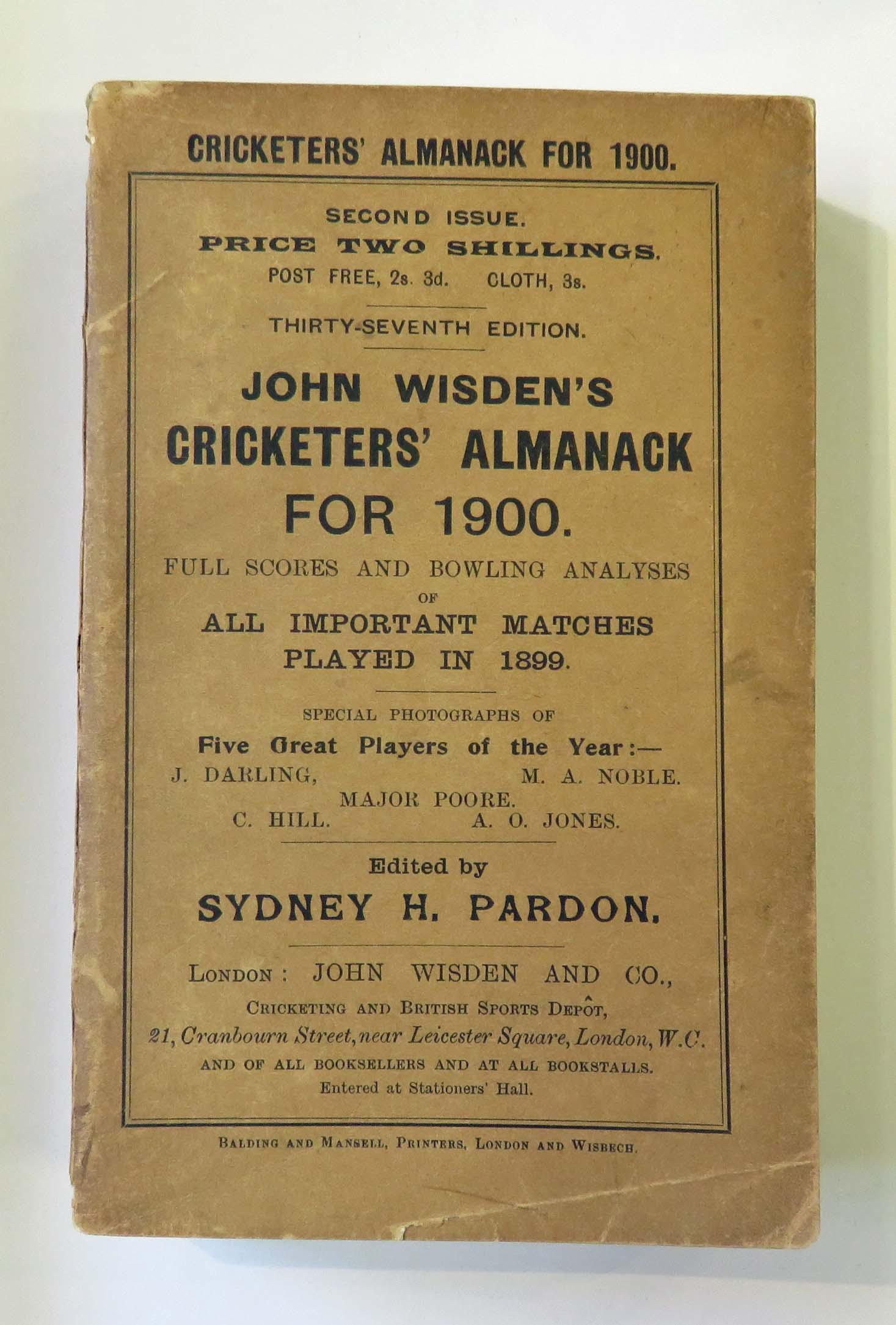 John Wisden's Cricketers' Almanack for 1900