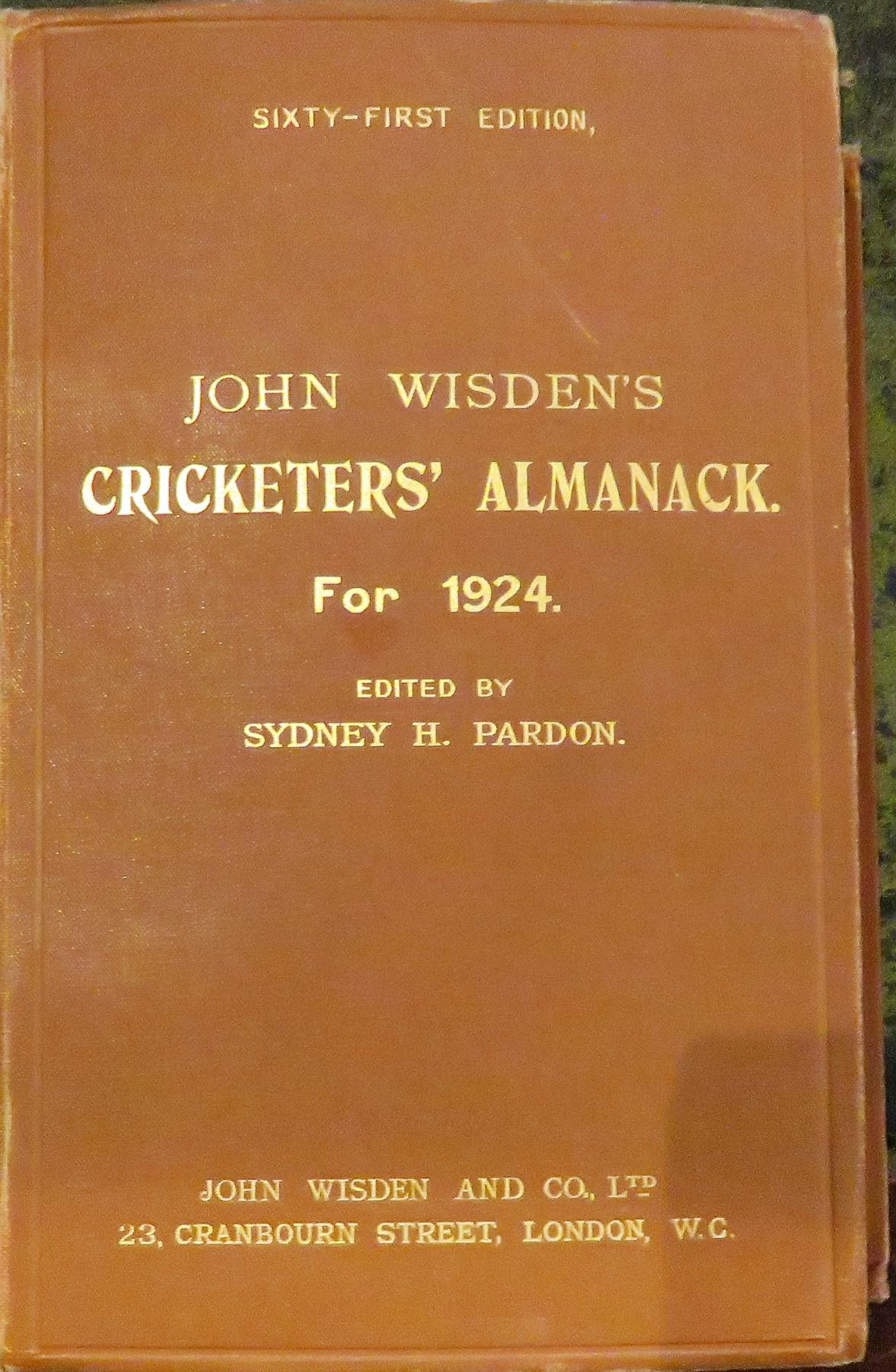 **John Wisden's Cricketers' Almanack For 1924**