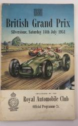 Programme Of The 4th British Grand Prix And The R.A.C. Internatinal 500 c.c. Race Silverstone Saturday 14th July 1951