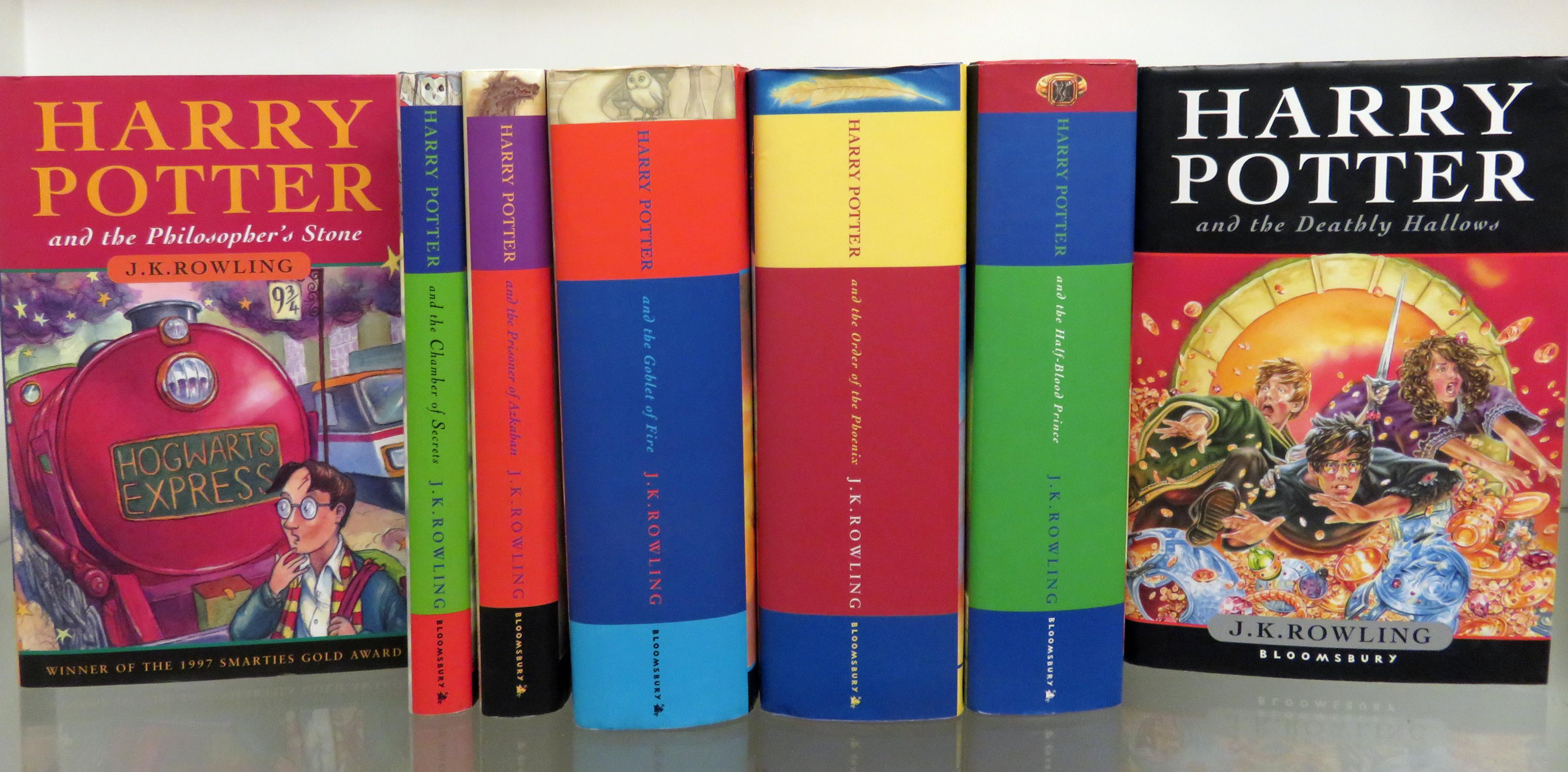 Complete Set of Seven First Edition Harry Potter Books