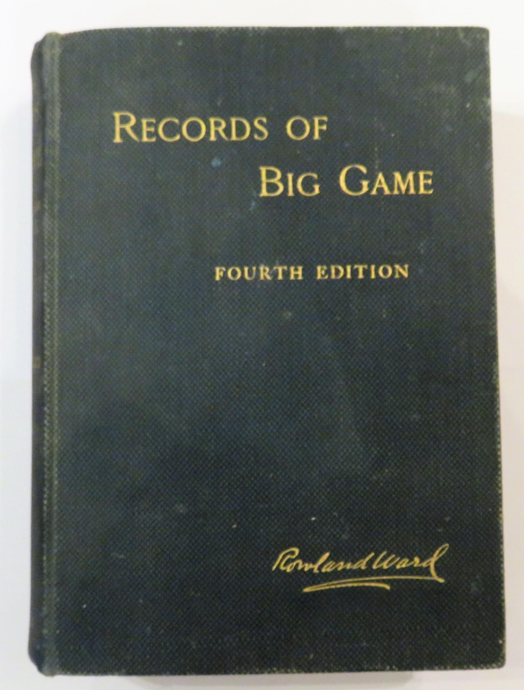 Records of Big Game With The Distribution Characteristics Dimensions Weights And Horn & Tusk Measurements of the Different Species