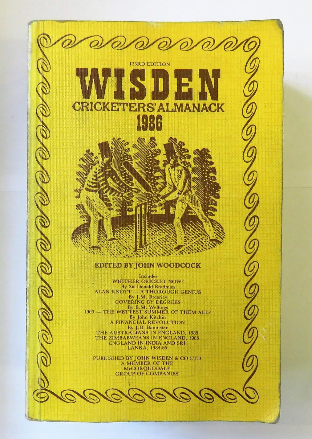 Wisden Cricketers' Almanack 1986