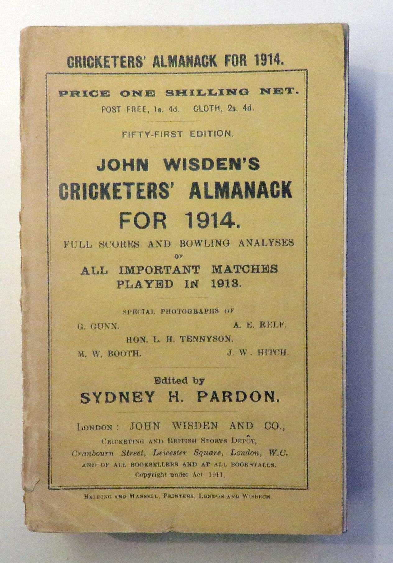 **John Wisden's Cricketers' Almanack For 1914