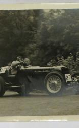 Photograph of Racing Car and Driver Number 27 1940's